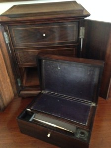 writing drawer of travel chest